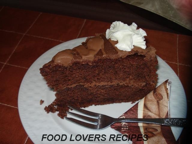sjokolade koek sonder koring sny