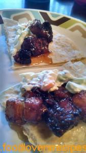 PORK BELLY WITH APPLE SLAW AND CHILLI CARAMEL