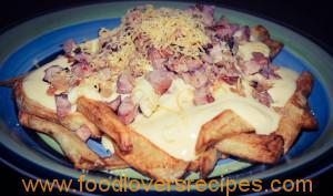 Kaas en spek chips