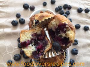 FLR Blueberry cream cheese muffins