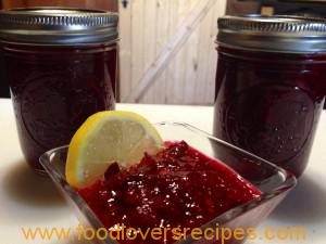 Cranberry-jalapeño sauce.