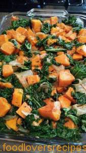 Kale and butternut salad