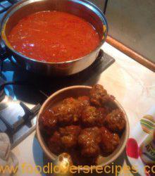Spaghetti Meatballs with mozzarella 2