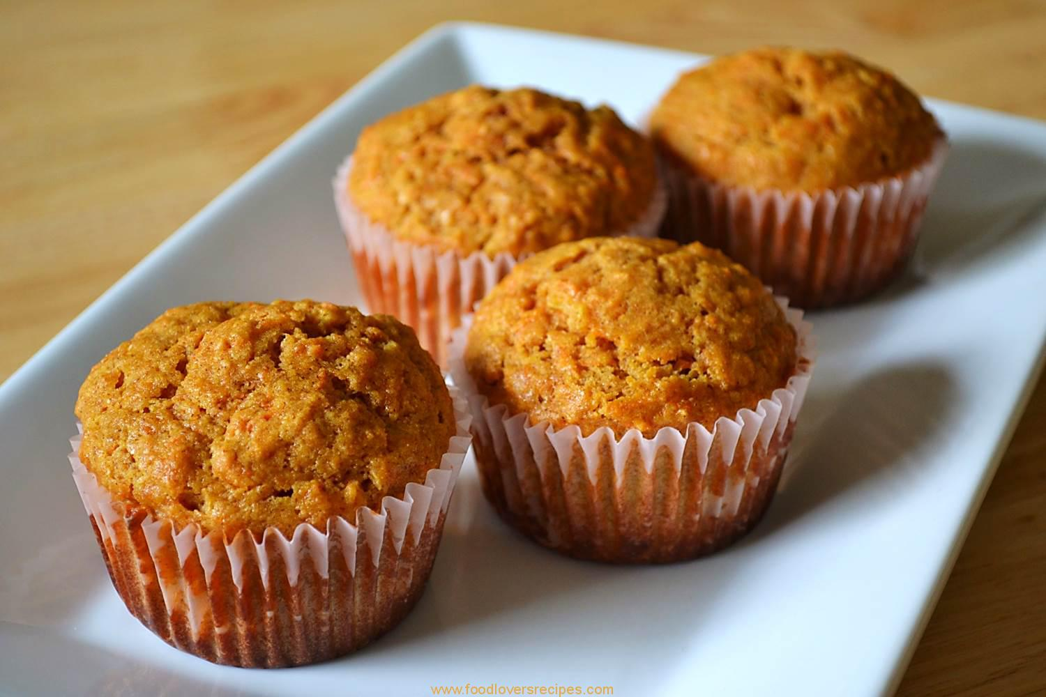 CARROT PINEAPPLE MUFFINS-TERT - Food Lovers Recipes