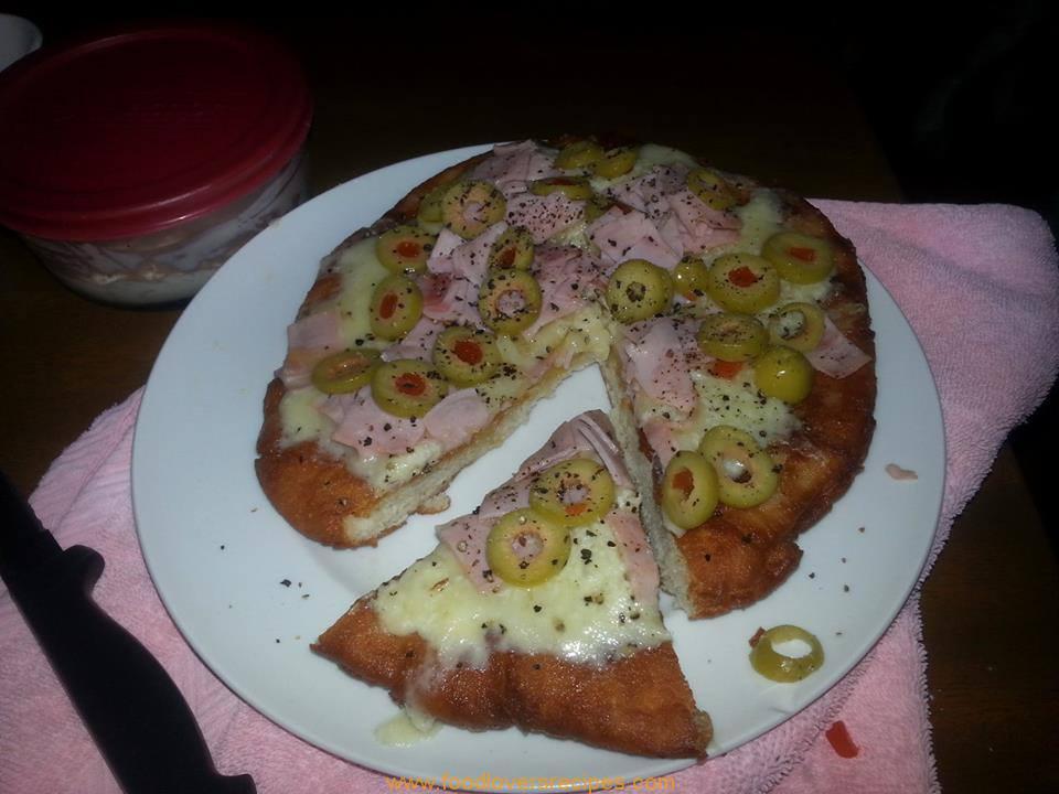 Vetkoek Panfried Pizza